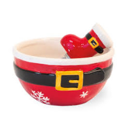 Boston International Holiday Santa Belt Bowl & Spreader Set