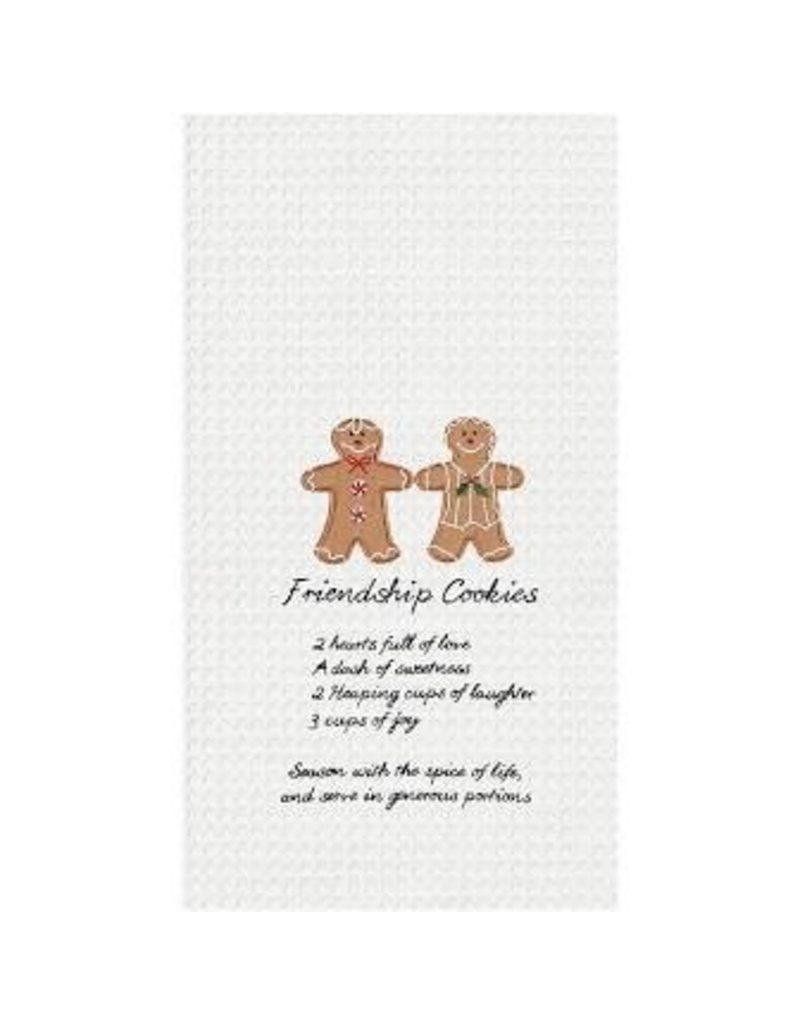 C and F Home Holiday Dish Towel Gingerbread Cookies