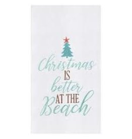 C and F Home Holiday Dish Towel Christmas is Better