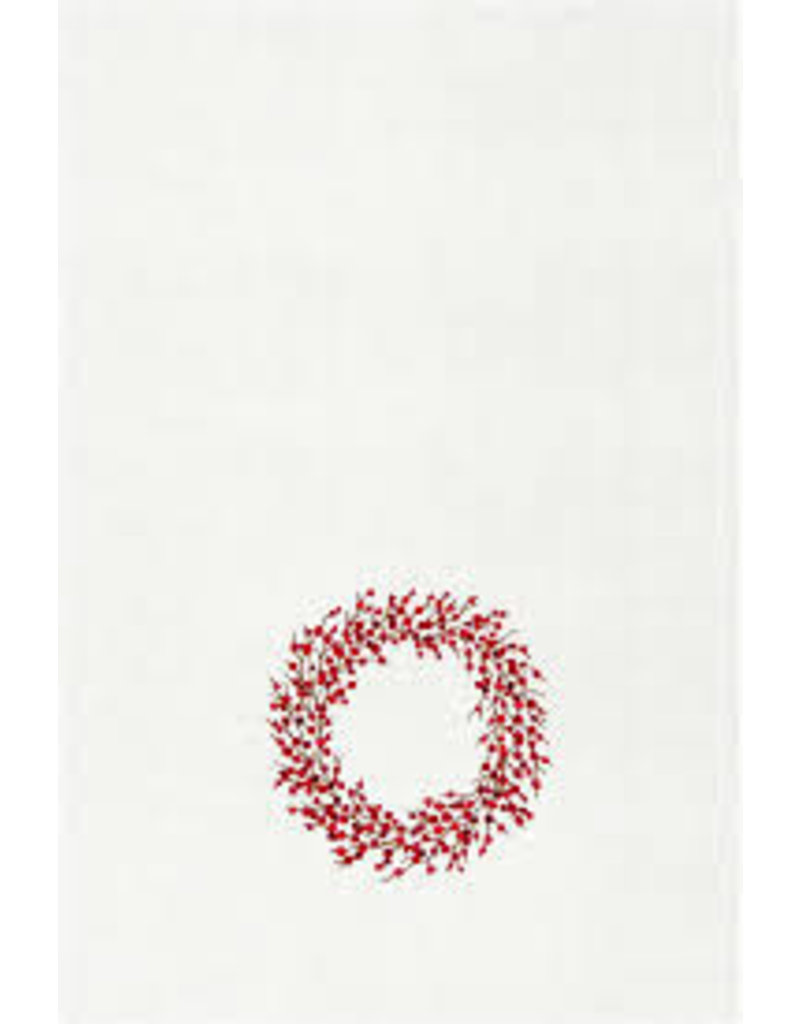 C and F Home Holiday Dish Towel Berry Wreath