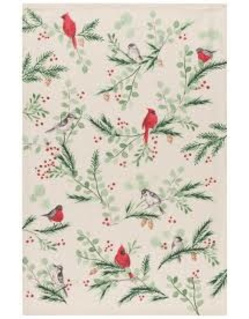 Now Designs Holiday Dish towel, Forest Birds