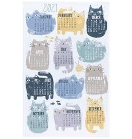 Now Designs Holiday Dish towel, Purrfect Cat Year 2021