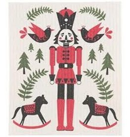 Now Designs Swedish Holiday Dishcloth Nutcracker now
