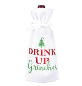 C and F Home Holiday Wine Bag Drink Up Grinches