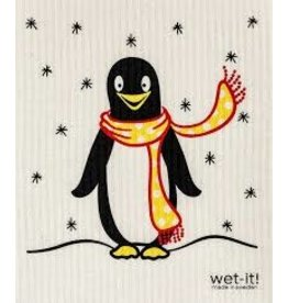 Wet-It Swedish Dish Holiday Penguin in Scarf DISC