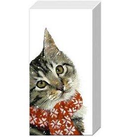 Boston International Holiday Pocket Tissues,  Kitty, 10x