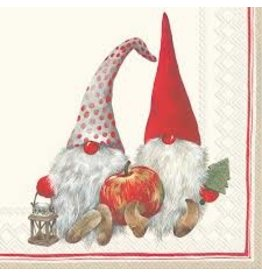 Boston International Holiday Cocktail Napkin, Friendly Tomte Red Gnome