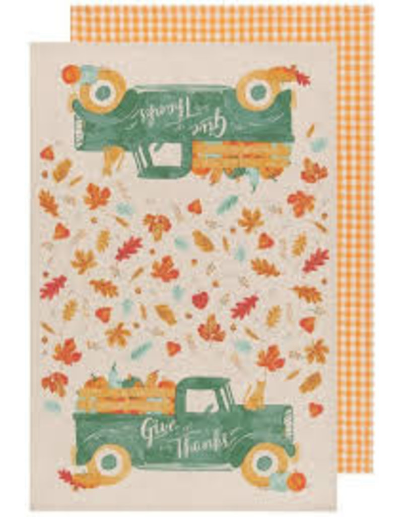 Now Designs Fall Dish towels Autumn Harvest, Set of 2