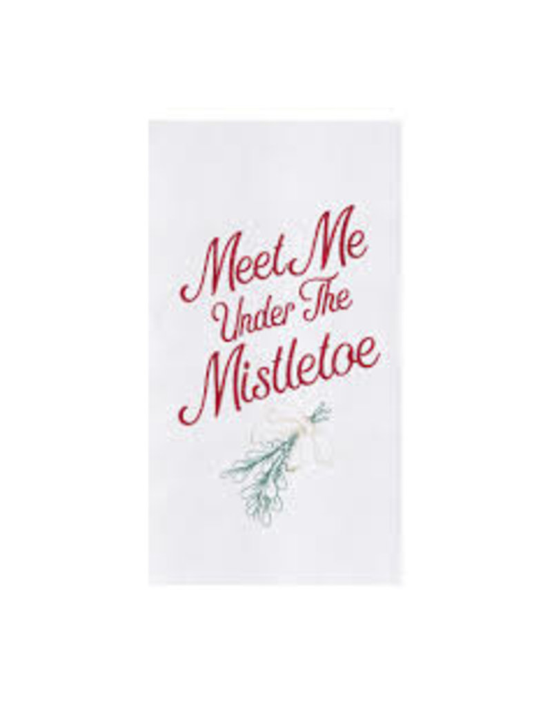 C and F Home Holiday Dish Towel Under the Mistletoe