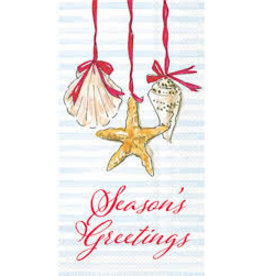Boston International Holiday Guest Towel, Season's Greetings Shells