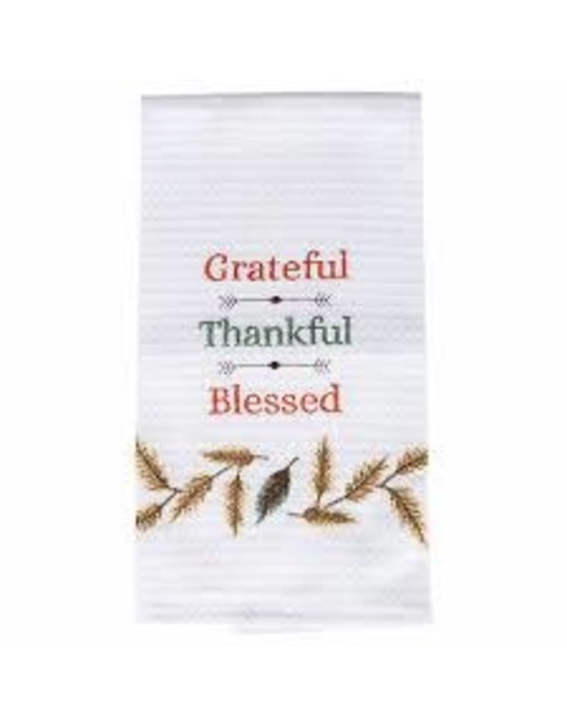 C and F Home Fall Dish Towel Grateful,Thankful,Blessed