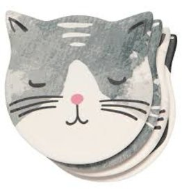 Now Designs Soak-Up Coasters, Cats Meow, Set of 4