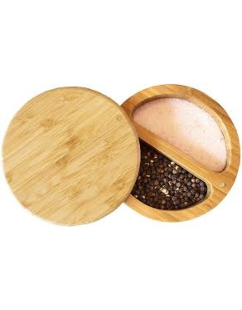 Totally Bamboo Bamboo DUET Salt and PepperBox with Magnetic Swivel Lid