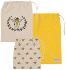 Now Designs Produce Bags, Le Marche Busy Bees, Set of 3