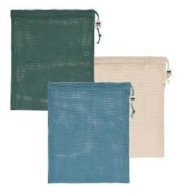 Now Designs Produce Bags, Le Marche Pine Green, Set of 3 disc