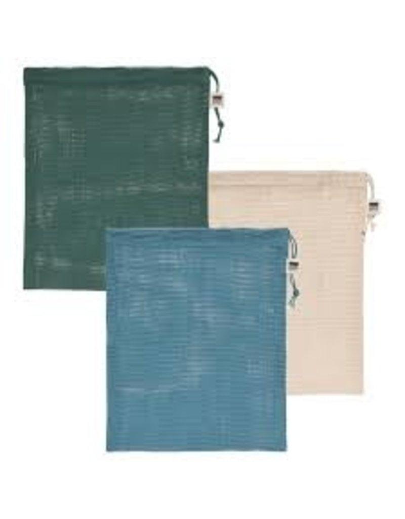 Now Designs Produce Bags, Le Marche Pine Green, Set of 3 disc