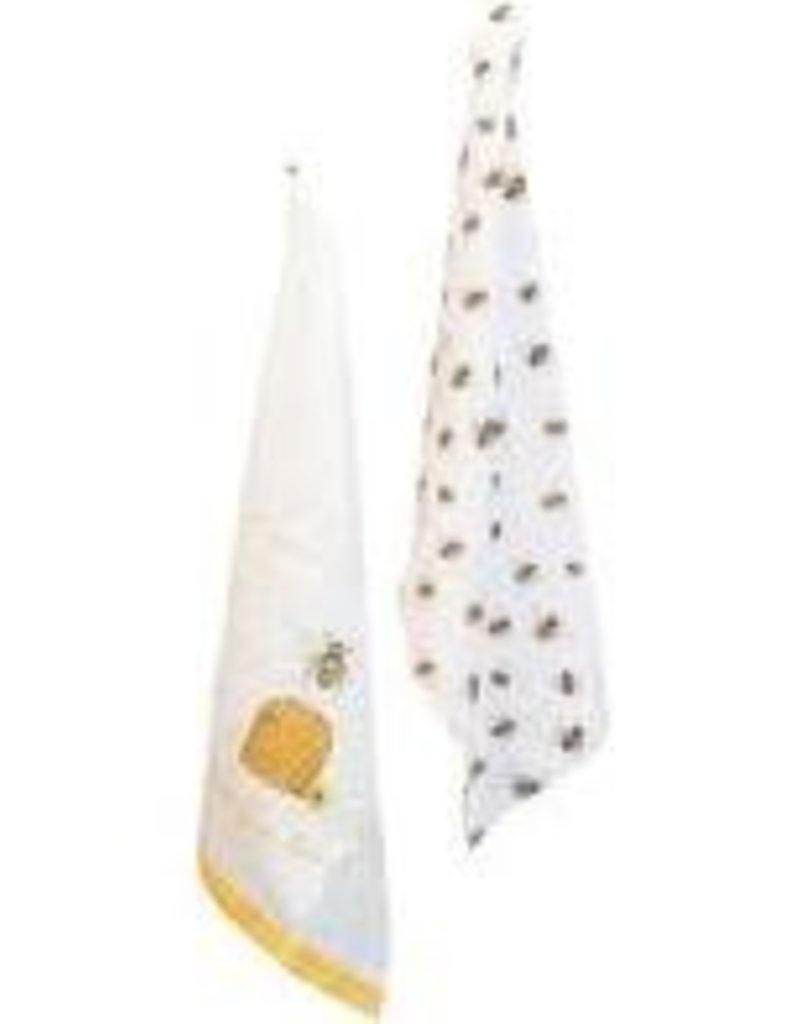 Boston International Kitchen Towels, Save the Bees, Cotton, Set of 2