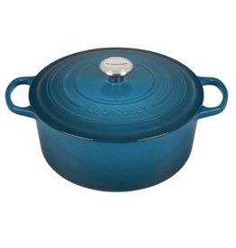 Le Creuset Enameled Cast Iron Signature Round Dutch Oven 5.5qt Deep Teal ciw