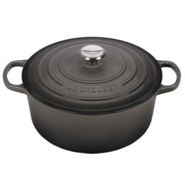 Le Creuset Enameled Cast Iron Signature Round Dutch Oven 6.75qt Oyster ciw