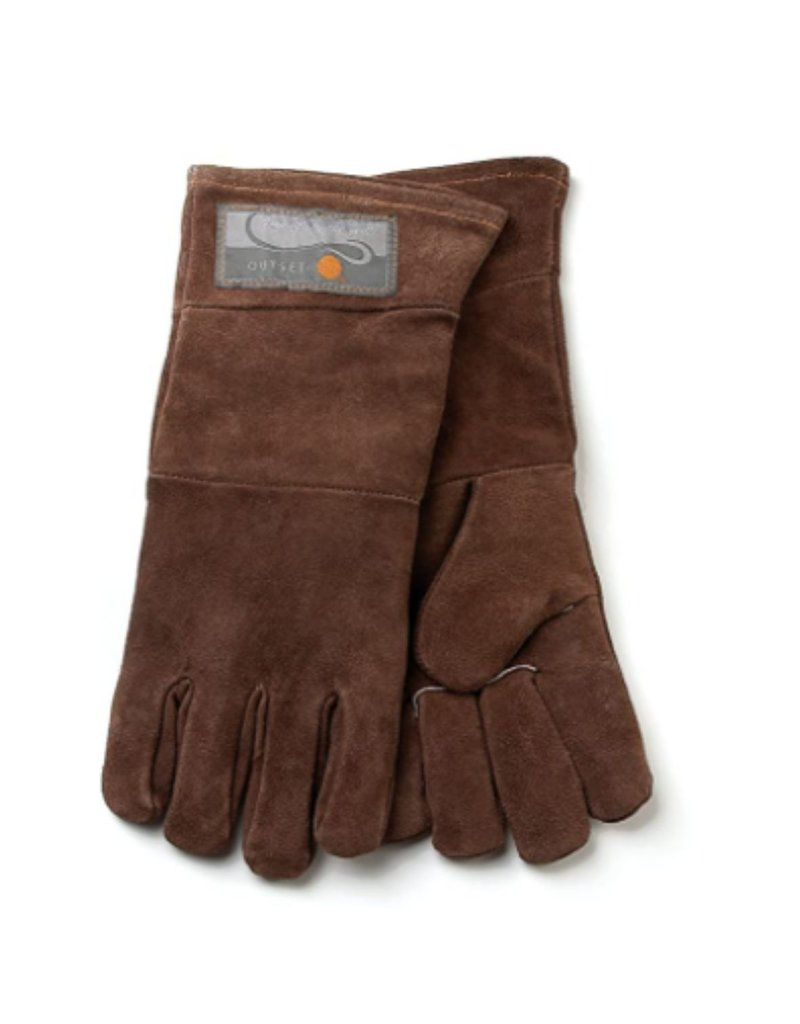 Foxrun Outset Leather Grill Mitts Gloves, Set of 2
