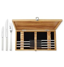 Wusthof Wusthof Stainless 10Pc Steak/Carving Knife Set in Olivewood Chest