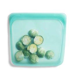 """Reusable Silicone Lunch Bag - 7,"""" 15oz, AQUA disc"""