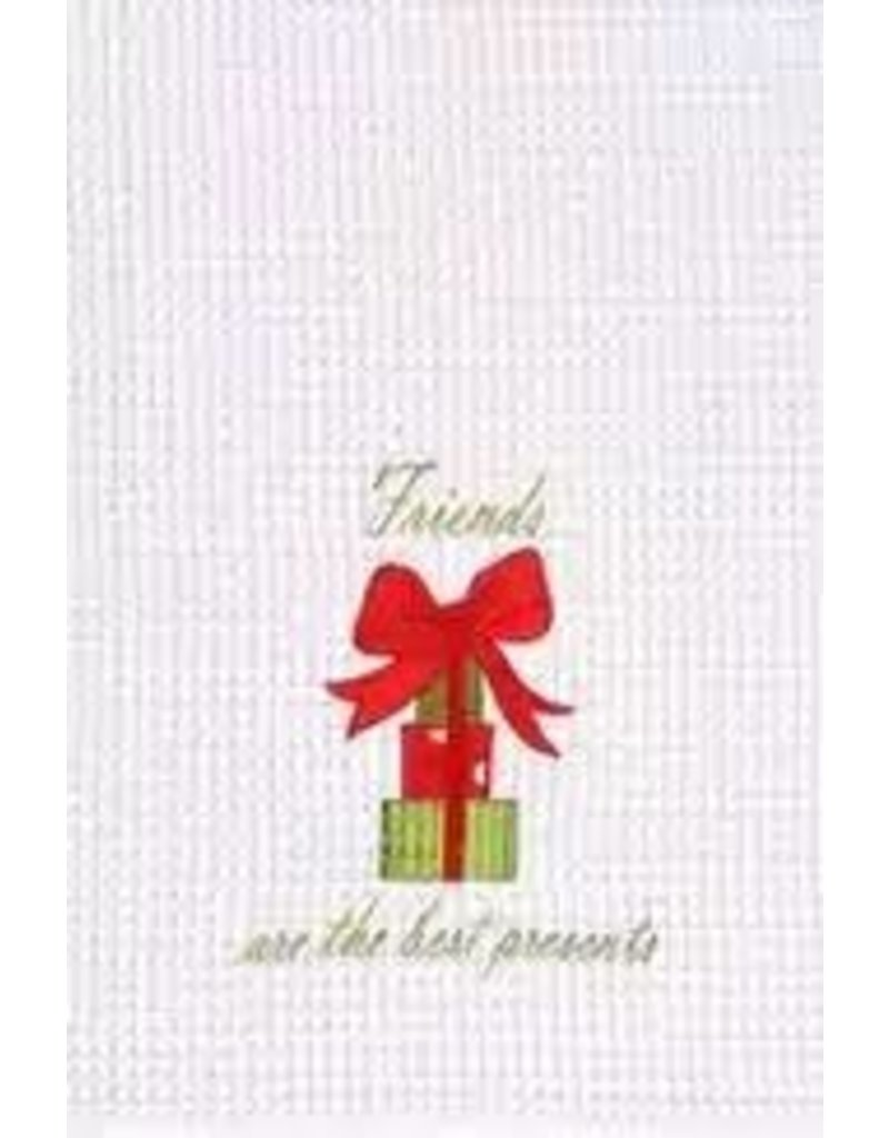 C and F Home Holiday Towel Friends Best Presents 17, waffle weave