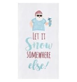 C and F Home Holiday Dish Towel Let It Snow