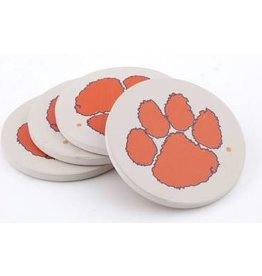 ThirstyStone Coaster Gift Set of 4 - Clemson