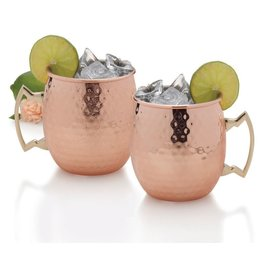 BarCraft Moscow Mule Mug, 18-Ounce, Copper , Set of 2