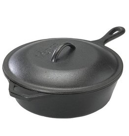 Lodge Cast Iron 3 Quart Deep Skillet with Lid