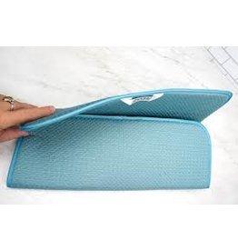 RSVP Microfiber Dish Drying Mat, turquoise