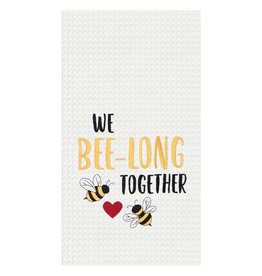 C and F Home Towel Bee-long Together, waffle weave