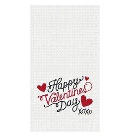 C and F Home Valentine Towel XOXO, waffle weave