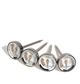 Foxrun Outset Steak Thermometers, set of 4