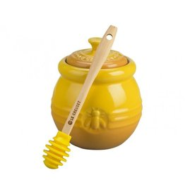 Le Creuset Stoneware Honey Pot with Dipper, yellow
