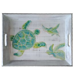 Hand-Carved Sea Turtle Wooden Serving Tray
