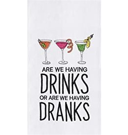 C and F Home Towel, Drinks or Dranks, floursack