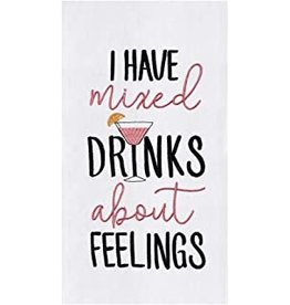 C and F Home Towel, Mixed Drinks and Feelings, floursack
