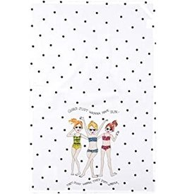 C and F Home Towel, Just Want to Have Fun, floursack