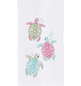 C and F Home Towel, Rainbow Sea Turtle, floursack