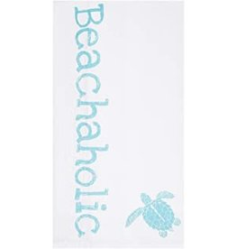 C and F Home Towel, BEACHAHOLIC Sea Turtle, floursack
