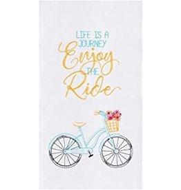 C and F Home Towel, Enjoy the Ride Bike, floursack