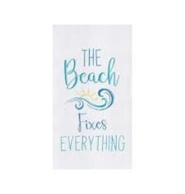 C and F Home Towel, Beach Fixes Everything, floursack