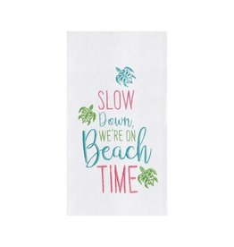 C and F Home Towel, Slow Down Beach Time, foursack