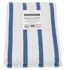 Now Designs Basketweave Kitchen Towel, Royal Blue