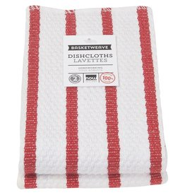 Now Designs Basketweave Kitchen Towel, Red