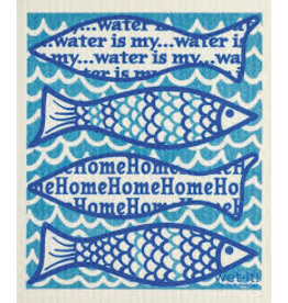 "Wet-It Swedish Dish ""Water is my Home"" Fish"