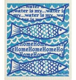 "Wet-It Swedish Dish ""Water is my Home"" Fish"