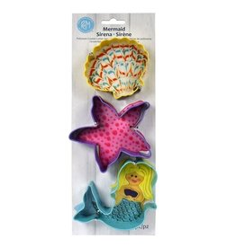 Mermaid Cookie Cutters, 3pc Color Set, rm